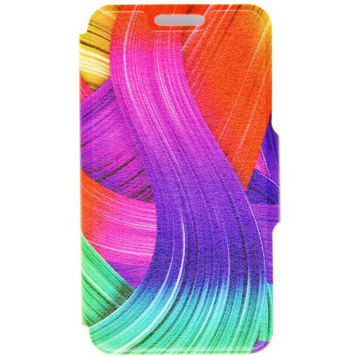 Kinston® Color Ribbon Pattern PU Leather Case for iPhone SE / 5 / 5S
