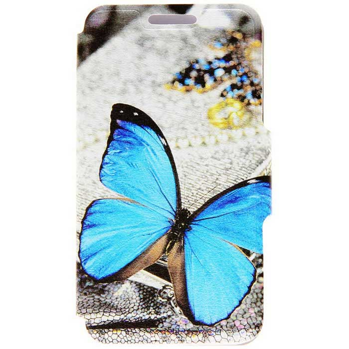 Kinston KST039 Blue Butterfly Pattern PU Leather for iPhone SE/5/5S
