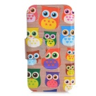 Kinston KST255 Cute Owl Pattern PU Leather Case for iPhone SE/5/5S