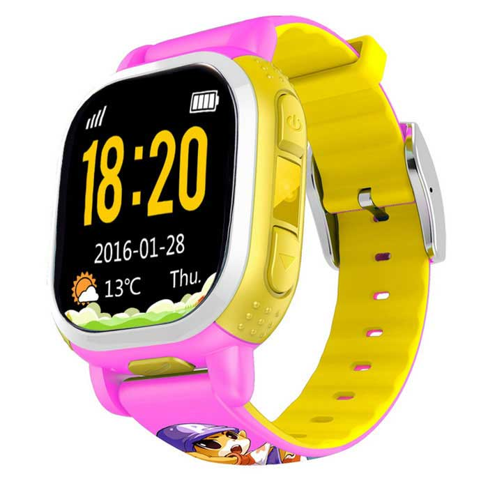 Tencent QQwatch Kids GPS Wrist Watch Phone w/ GPS SOS Call - Pink