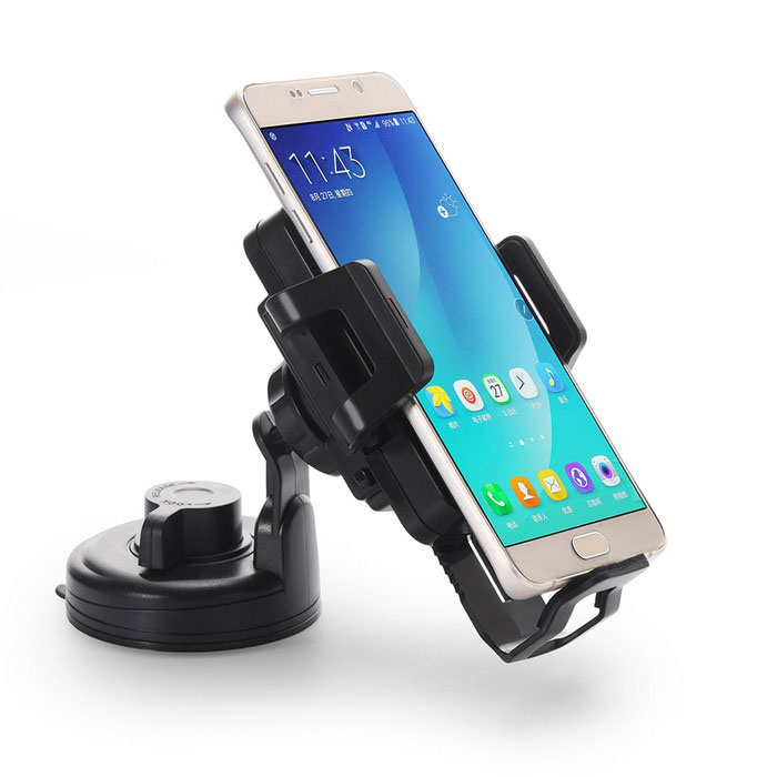 Universal Qi Standard Wireless Phone / Suction Holder Car Charger w/ Air vent Holder