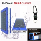 "SUNGZU ""10000mAh"" Dual USB Solar Power Battery Bank - Blue + White"