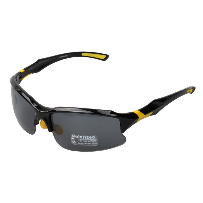 Outdoor Sports Polarized Sunglasses - Black + Yellow + Grey