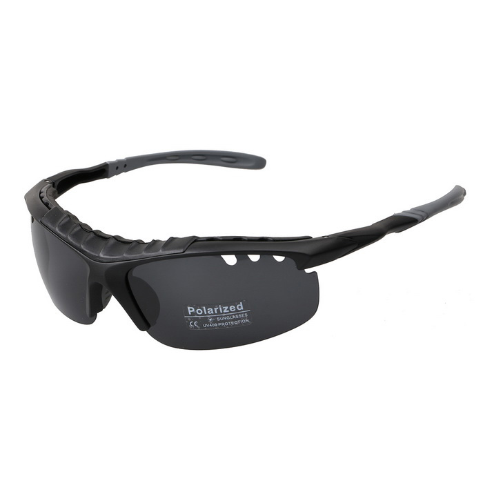 AT9186 Outdoor Sports Fashion Sunglasses - Grey + Black