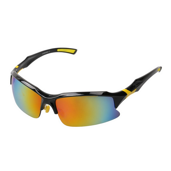 9150-S Outdoor Sports Óculos de sol coloridos - Black + Amarelo REVO