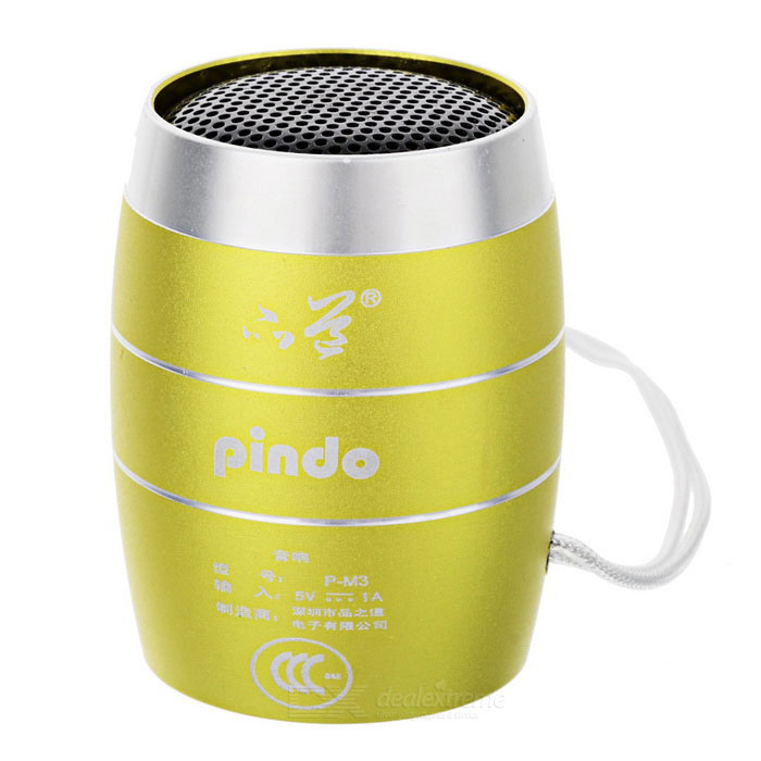 PINDO M3 Children's Portable Speaker w/ TF Card Slot - Golden