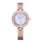 WEIQIN 261902 Round Dial Alloy Band Wrist Watch - Golden