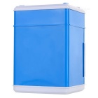 Mini ATM Bank Money Saving Box Lockbox Piggy Bank Password Box - Blue