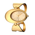 WEIQIN 269702 Oval Shaped Dial Alloy Band Wrist Watch - Golden