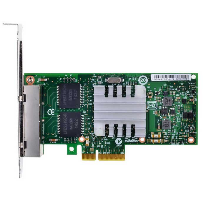 4-Portas PCI-E Gigabit Ethernet w / RJ45 - multi colores
