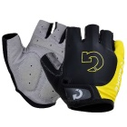 Moke Half-Finger Gloves for Cycling - Black + Yellow (XL / Pair)