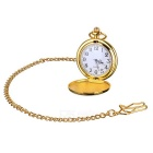 Flip Open Quartz Pocket Watch w/ Waist Chain - Golden + White (1*377)