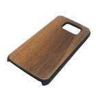 Wood + PC Back Case Cover for Samsung Galaxy S6 - Brown + Black
