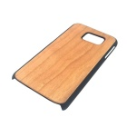 Madeira + PC Case Voltar para Samsung Galaxy S6 - Light Brown