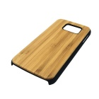 Bamboo + PC Back Case Cover for Samsung Galaxy S6 - Yellow