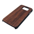 Wood + PC Back Case Cover for Samsung Galaxy S6 - rødbrun