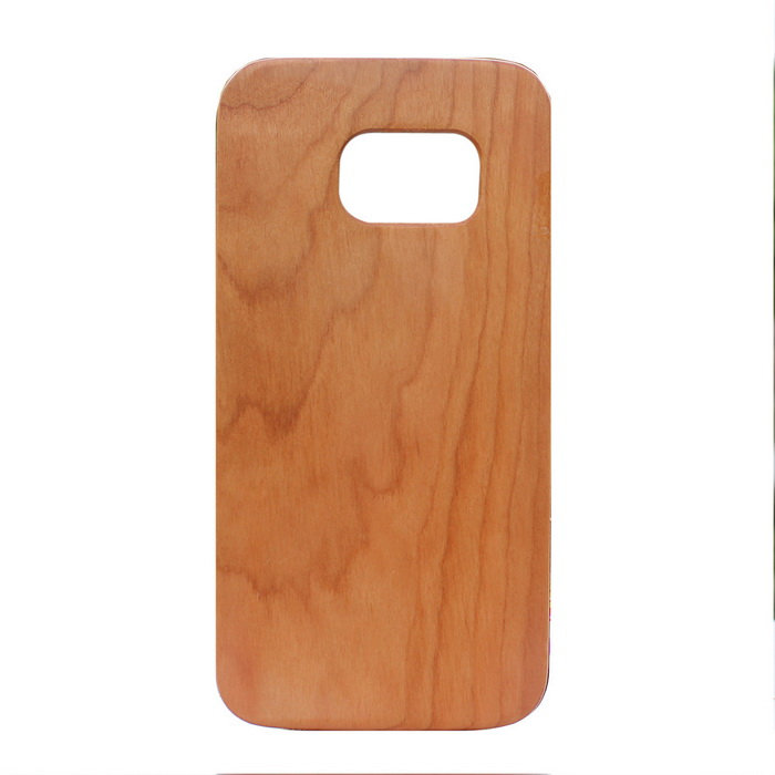 Wood + PC Back Case Cover for Samsung Galaxy S7 - Light Brown
