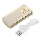 Rechargeable Double Electric Arc Pulse USB Cigarette Lighter - Golden