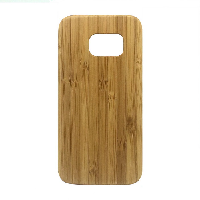 Bamboo + PC Back Case Cover for Samsung Galaxy S7 - Yellow
