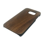 Wood + PC Back Case Cover for Samsung Galaxy S7 - Brown + Black