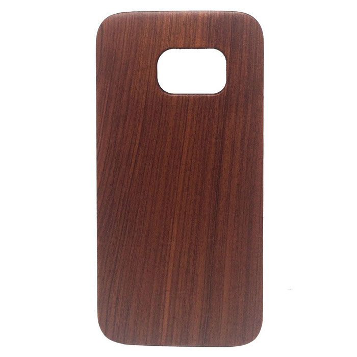 Wood + PC Back Case Cover for Samsung Galaxy S7 - Brownish Red