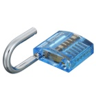 Mini Transparent Practice Padlock Lock Pick Locksmith Tools - Blue