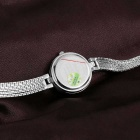 WEIQIN 261904 Round Dial Alloy Band Wrist Watch - Silver + White