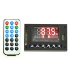 "1529 9~12V 2"" LED MP3 Decoder Board w/ FM / WMA / WAV / FLAC"