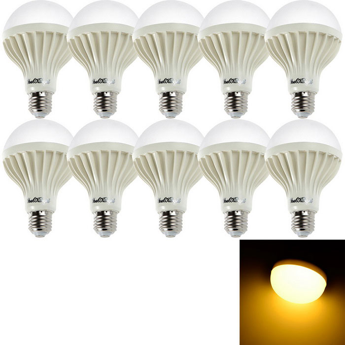 YouOKLight YK0027 E27 7W Warm White LED Bulb Lamps (AC 220V / 10PCS)