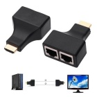 Fashion HDMI Extender Adapters - Black (Pair)