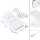 4 USB Port Power Supply Board Socket Charger - White