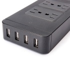 4 Port USB Power Supply Board Socket Chargeur - Noir