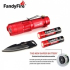 FandyFire SK68 XR-E 3-Mode 289lm Cool White Flashlight - Red