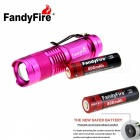 FandyFire SK68 XR-E 3-Mode 289lm Cold White Flashlight - Dark Pink