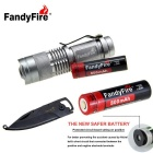 Rechargeable Flashlight w/ Clip, Multifunctional Keychain Knife for Outdoor Use