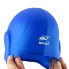 SPRING SWHALE 3D Ears Protection Silicone Swimming Cap - Blue
