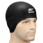 SPRING SWHALE 3D Ears Protection Silicone Swimming Cap - Black