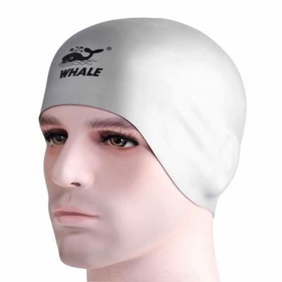 SPRING SWHALE Double Side Wearable Swimming Cap - Black + Silver