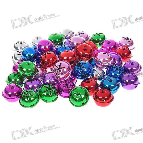 Colorful Metal Ringing Bells - Multi Color (50-Piece Pack)