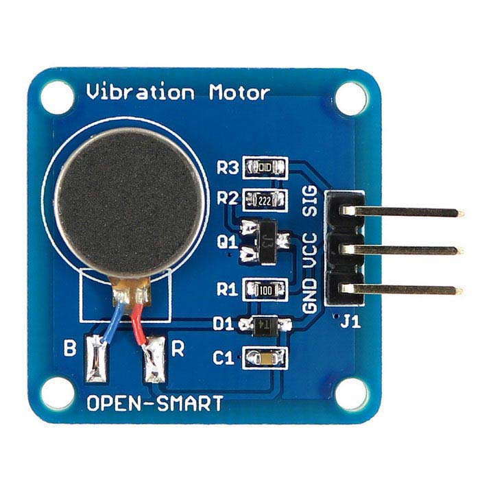 Mini Flat Vibrating Vibration Motor DC Motor for Arduino - Blue