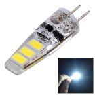 YWXLight G4 1.5W 6-5730 SMD Cool White LED Silicone Light Bulb