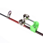 50st 4.5cm utomhus Twin Bells ring Fiskespö Clamp Bite Lure Alarm
