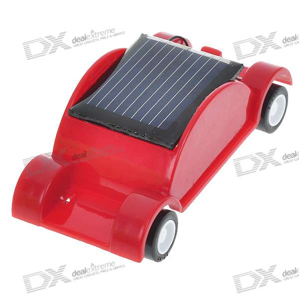 Mini Solar Powered Car (Red)