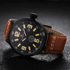 NaviForce NF9057 Men's Casual Quartz Analog Watch - Black + Yellow
