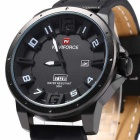 NaviForce NF9057 Men's Casual Quartz Analog Watch - Black