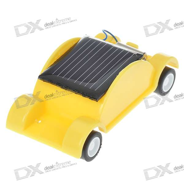 Mini Solar Powered Car (Yellow)