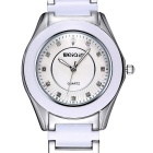 WEIQIN 273501 Fashion Stainless Steel Case Wriswatch - Silver + White