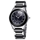 WEIQIN 273505 Fashion Stainless Steel Case Wrist Watch - Black