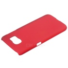 Protective Plastic Back Case for Samsung S6 - Wine Red