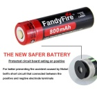 FandyFire 3.7V 800mAh Battery w/ US Plugsss Dual Charger - Black + Red
